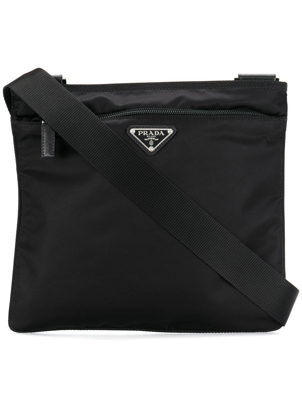 d20081c030793c Prada Logo Plaque Vela Cross-Body Bag - Farfetch In Black | ModeSens
