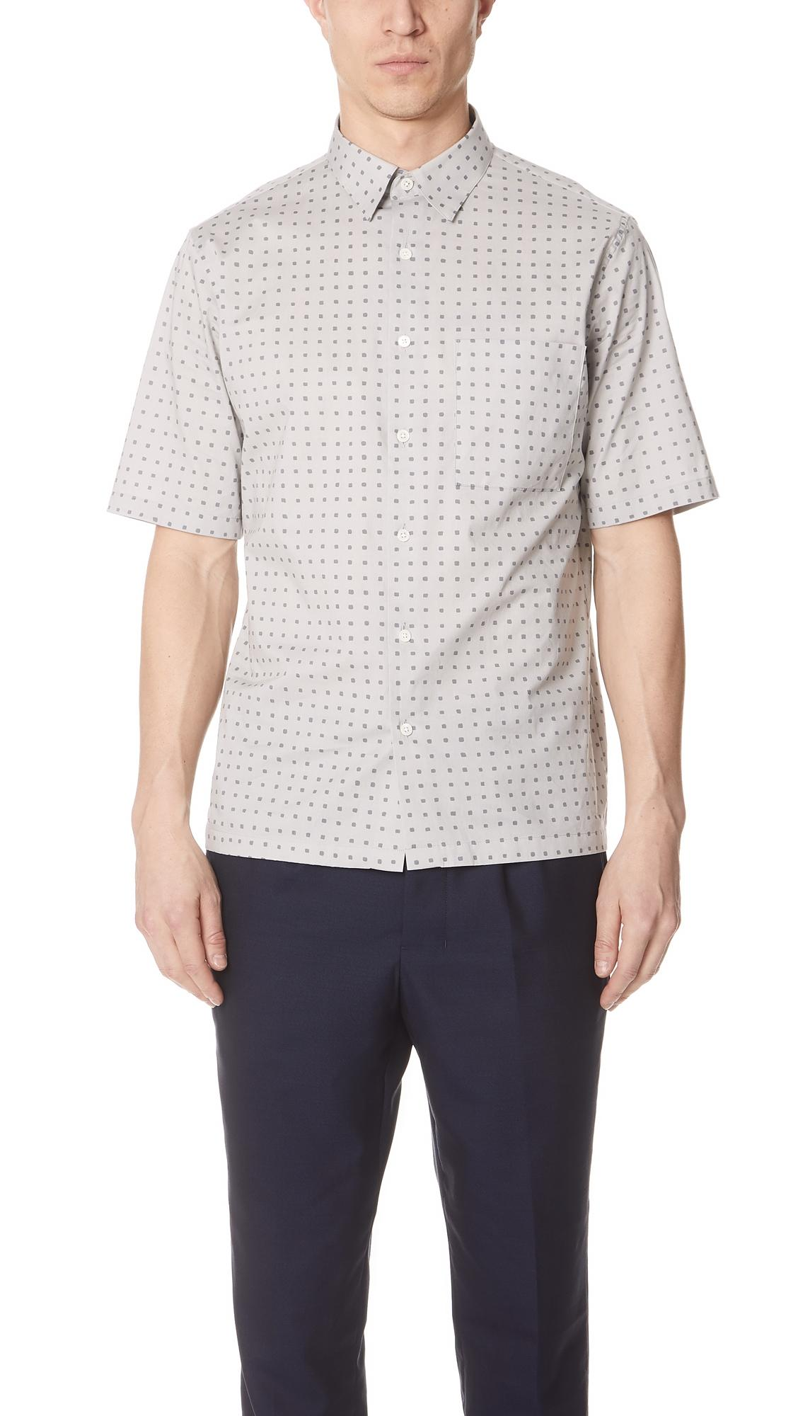 Bruner Dot Print Short Sleeve Shirt in Seed Multi