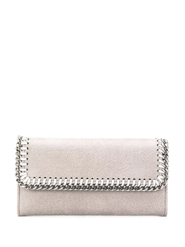 Stella Mccartney Women's Wallet Coin Case Holder Purse Card Bifold  Continental Shaggy Deer In 1220 Lt Gre