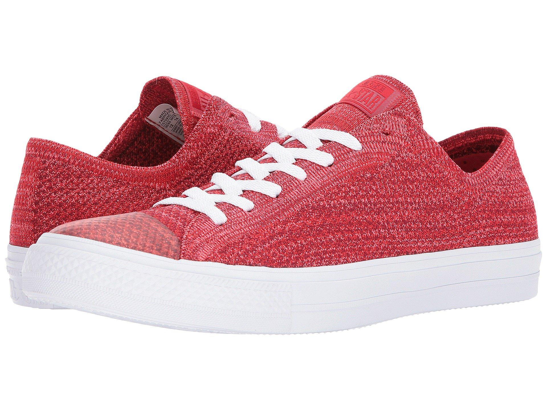 68a49650 Chuck Taylor® All Star® X Nike Flyknit Ox, Casino/Team Red/White