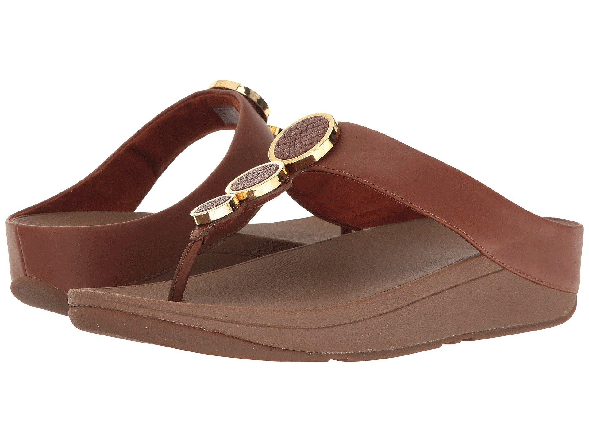 012e5d5f5 Fitflop Halo Toe Thong Sandals In Dark Tan