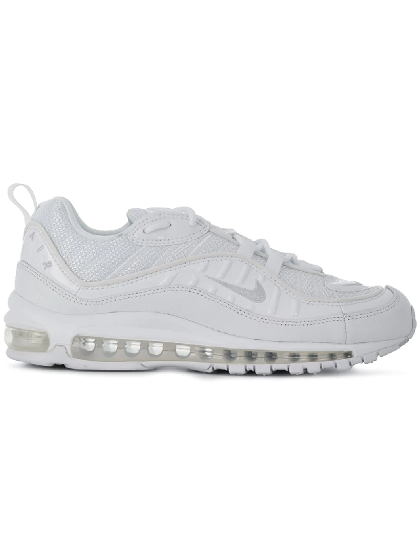 finest selection bde3c 3702c Nike Air Max 98 Mesh And Leather Sneakers In White