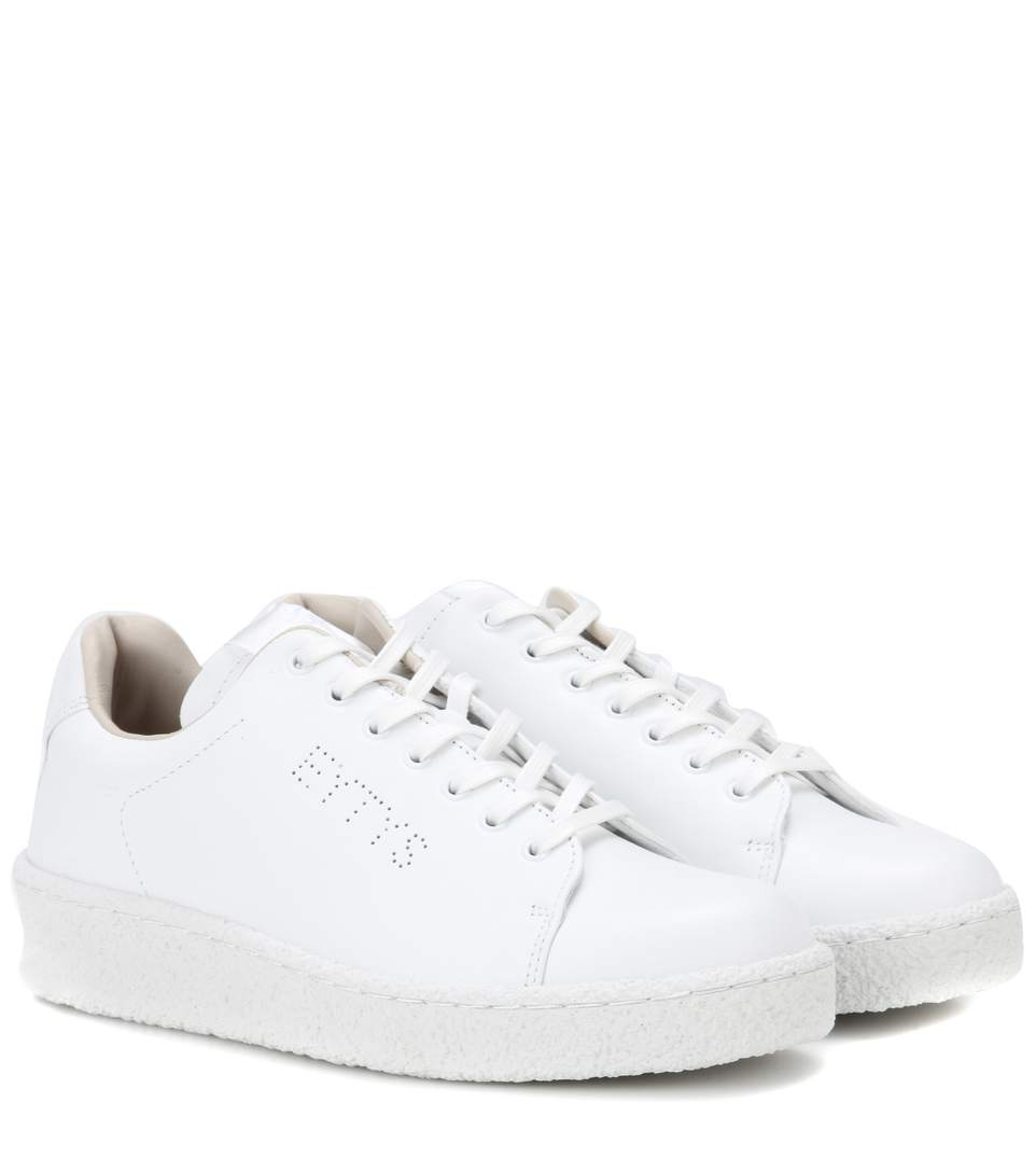 Eytys Ace Leather Sneakers In White