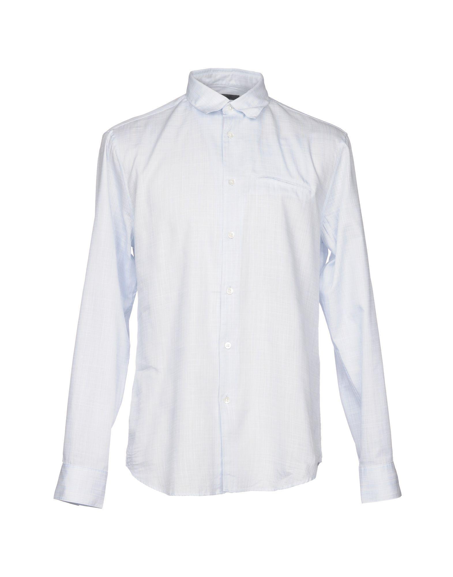 John Varvatos Patterned Shirt In Sky Blue