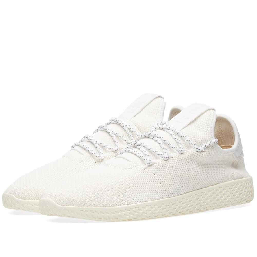 fa1277541 ADIDAS ORIGINALS. Adidas X Pharrell Williams Hu Tennis Hu  Blank Canvas  in  White