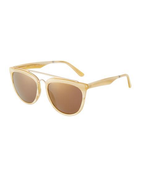 Smoke X Mirrors Volunteers Acetate/Stainless Steel Aviator Sunglasses In Brown/Gold