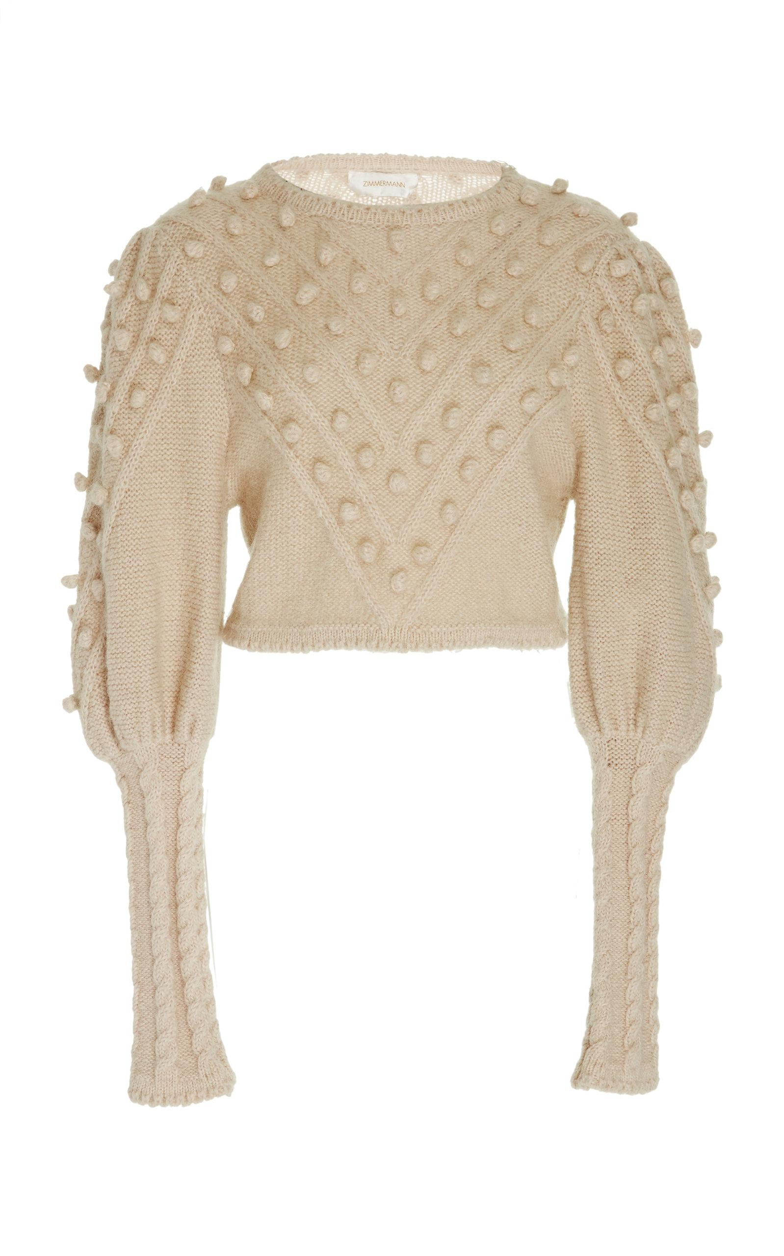 7aabf38b9ae Zimmermann Fleeting Bauble Mohair-Blend Sweater In White