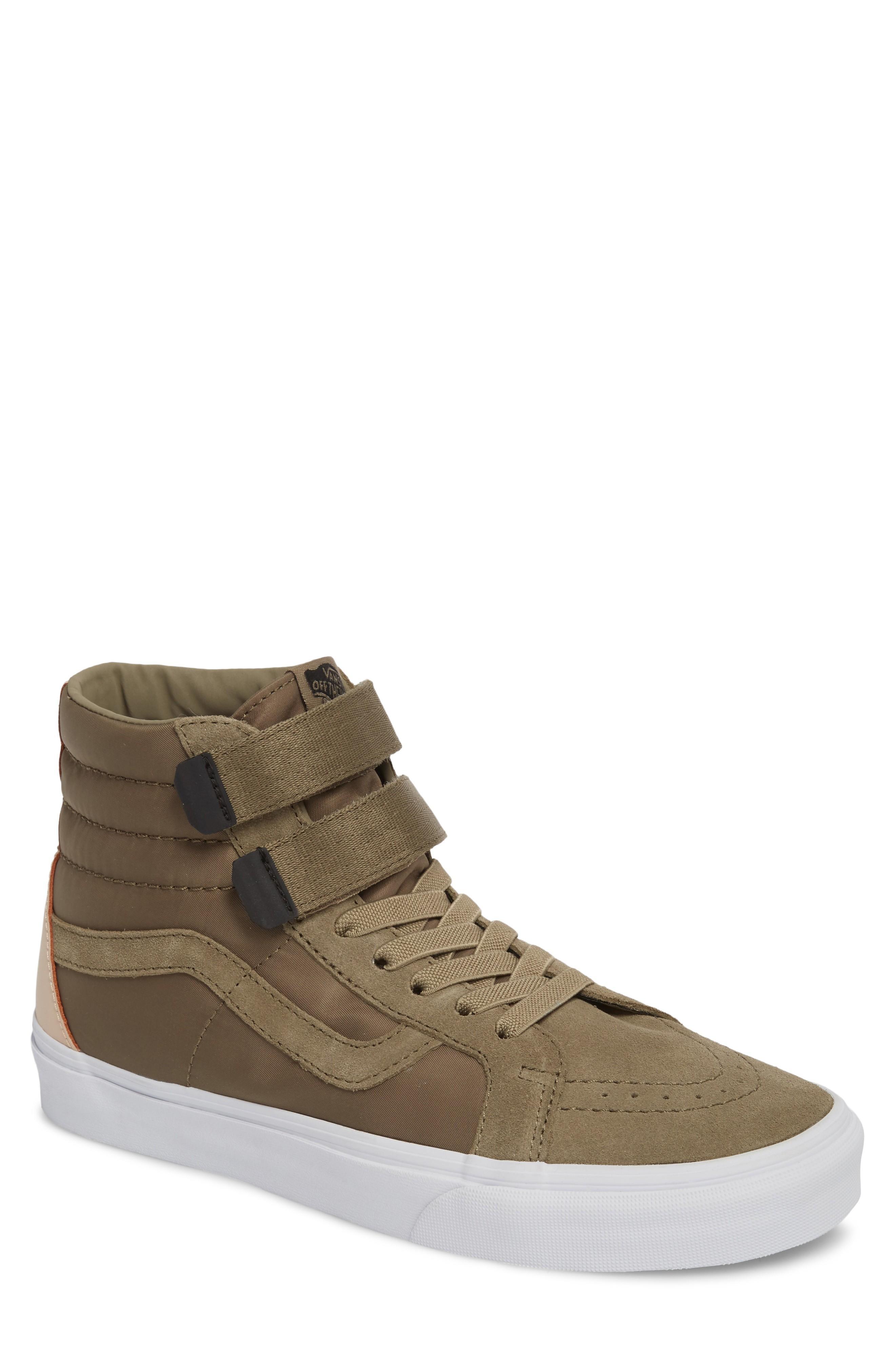 1f6b296ebe Vans Sk8-Hi Reissue V Sneaker In Dusky Green Leather