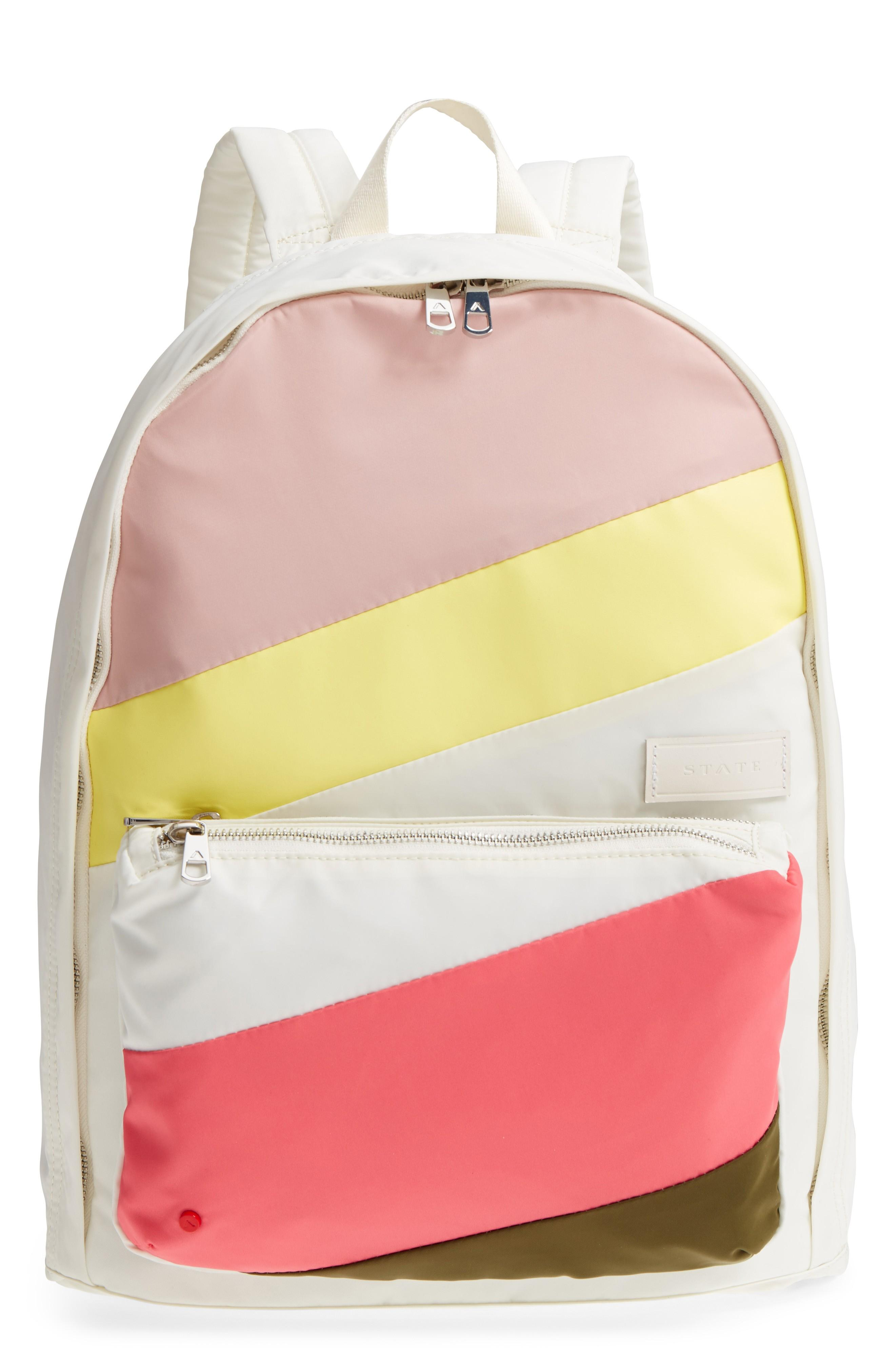 94b80e4d08f5 State The Heights Lorimer Backpack - Ivory In Cream Stripe