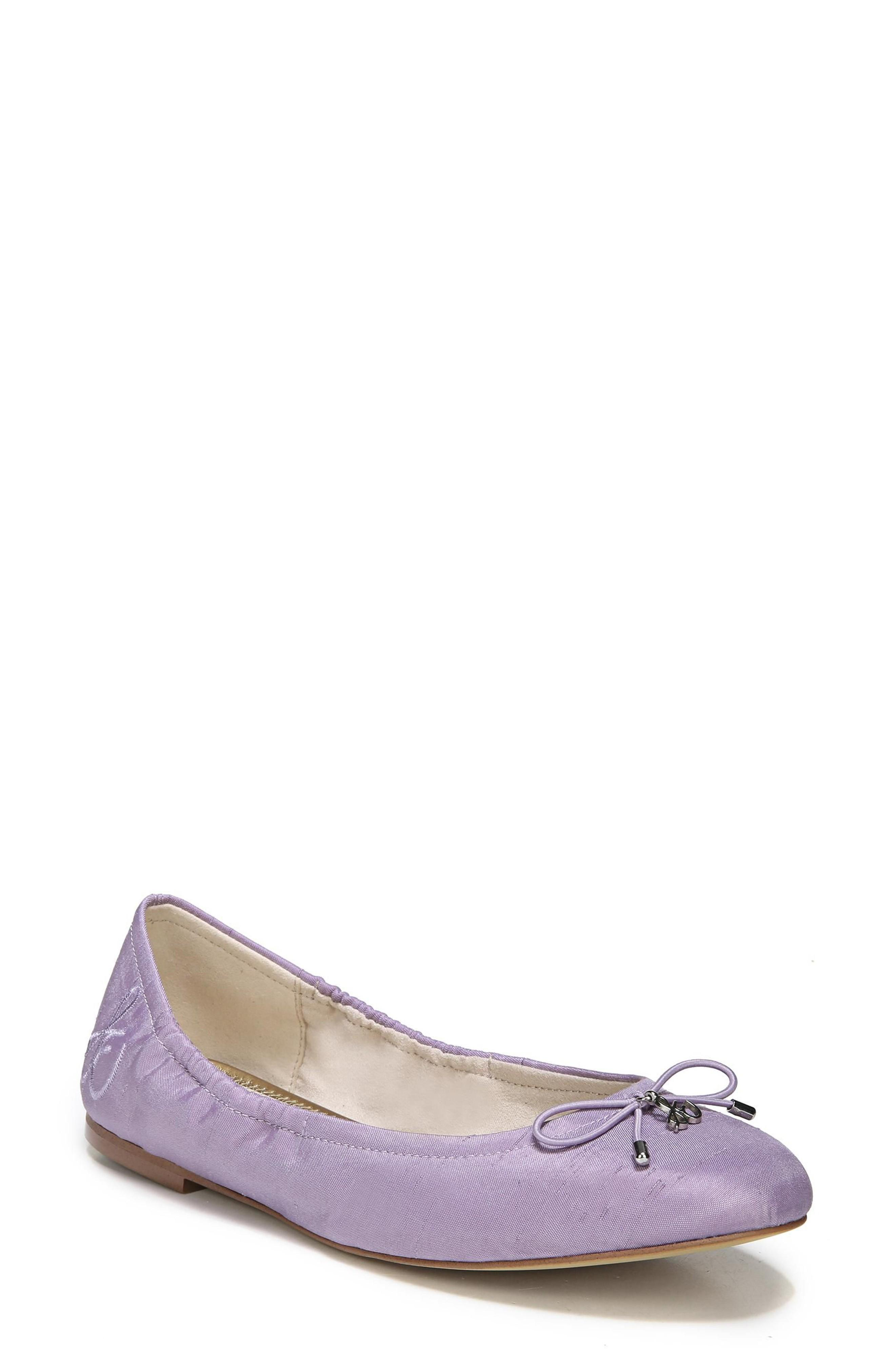 3ca2ad341ceb4 A delicate logo charm adorns the bow-trimmed toe of a charming ballet flat.  Style Name  Sam Edelman Felicia Flat. Style Number  372142 11.