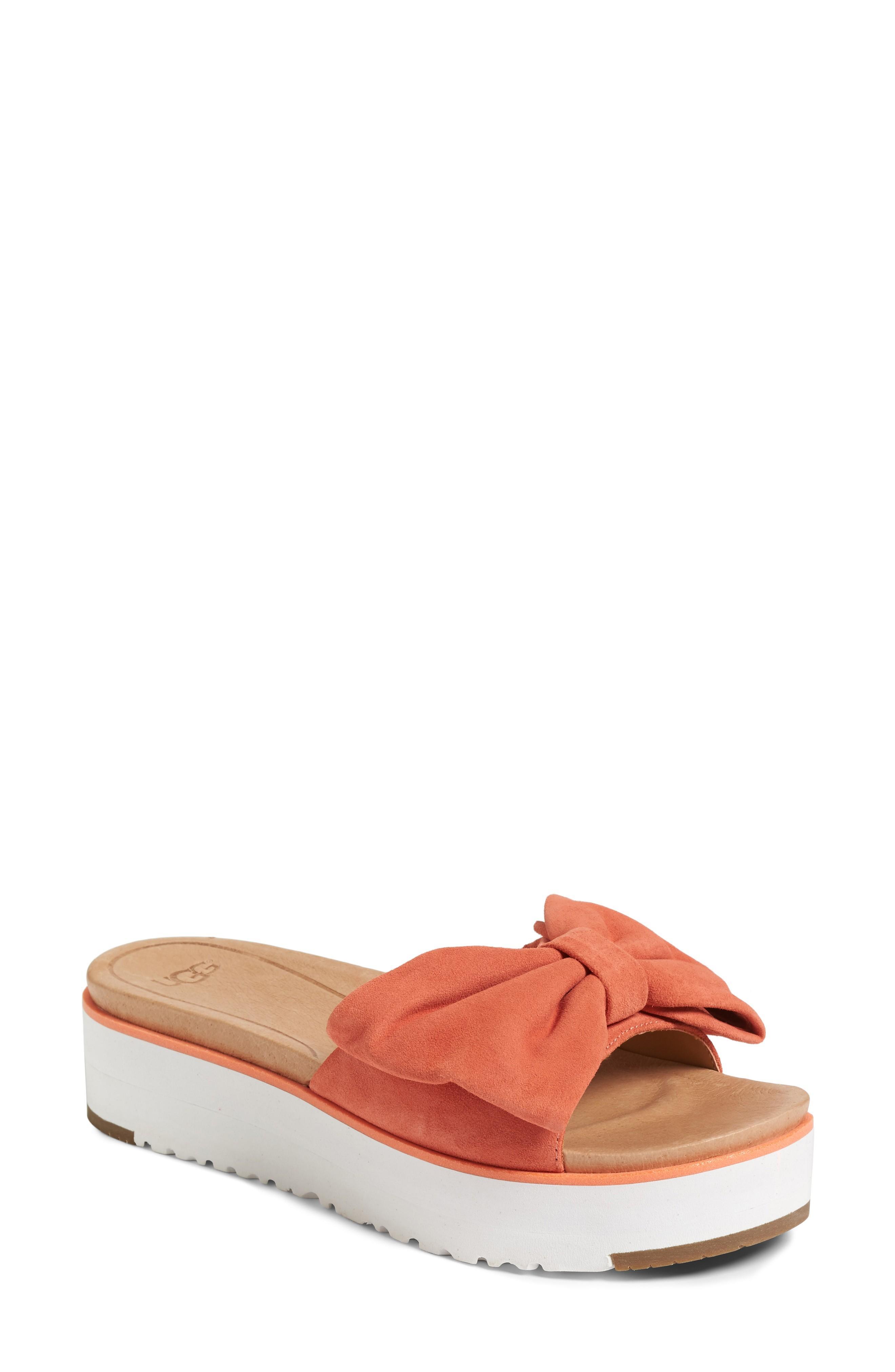 d8385e93ffb Ugg Joan Platform Sandal in Vibrant Coral Suede
