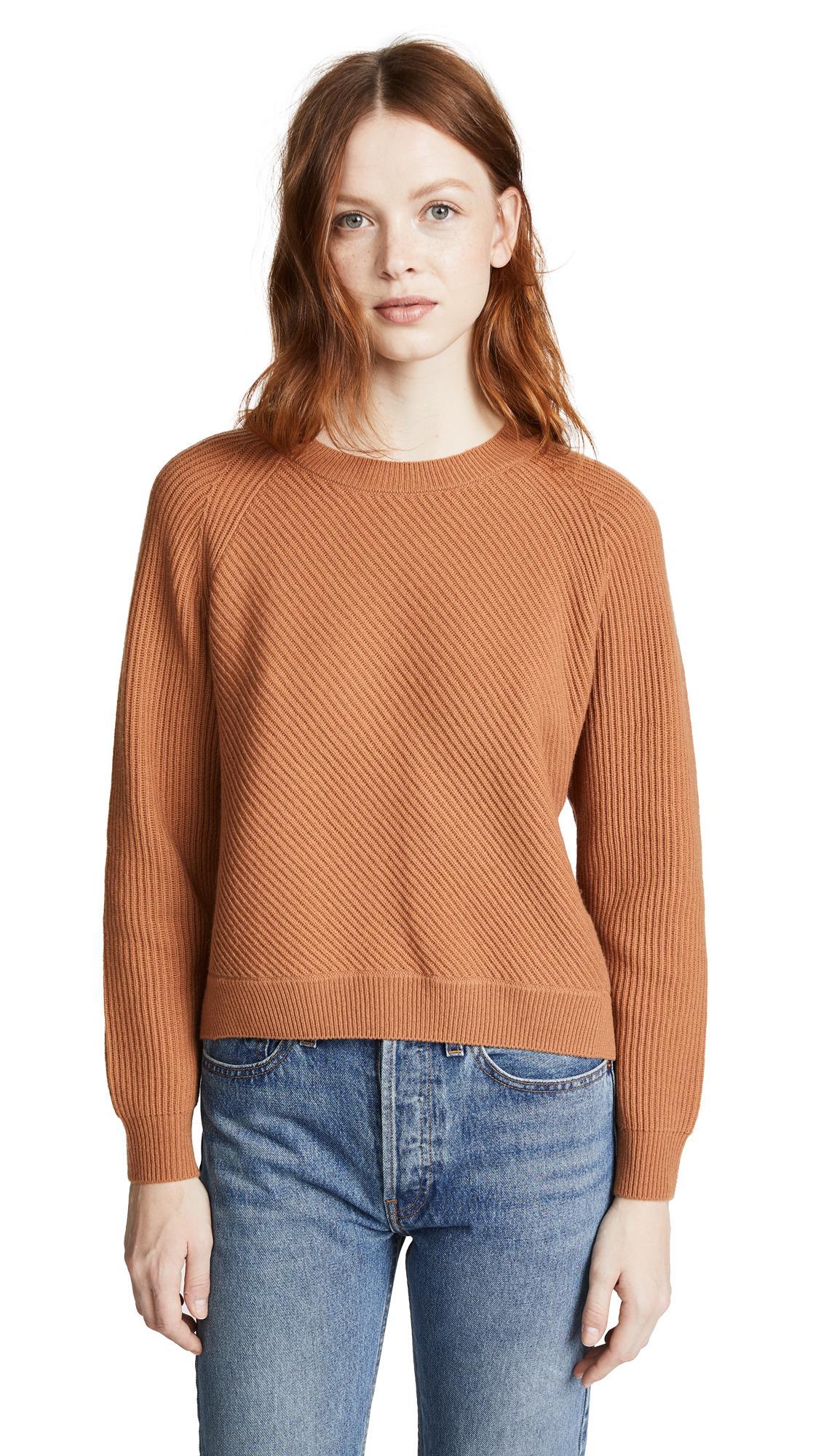 59948c7599a72b Vince Diagonal Rib Wool & Cashmere Sweater In Adobe | ModeSens