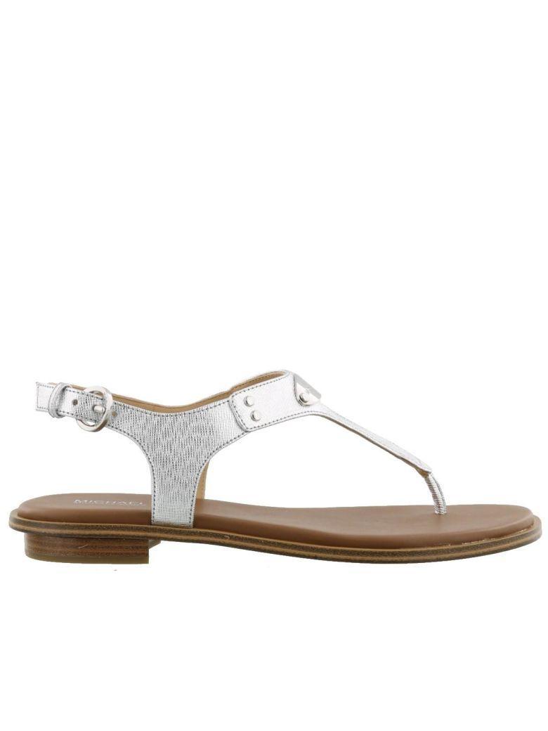 7eb4c68f86 Michael Kors Mk Plate Thong Sandals In Silver | ModeSens