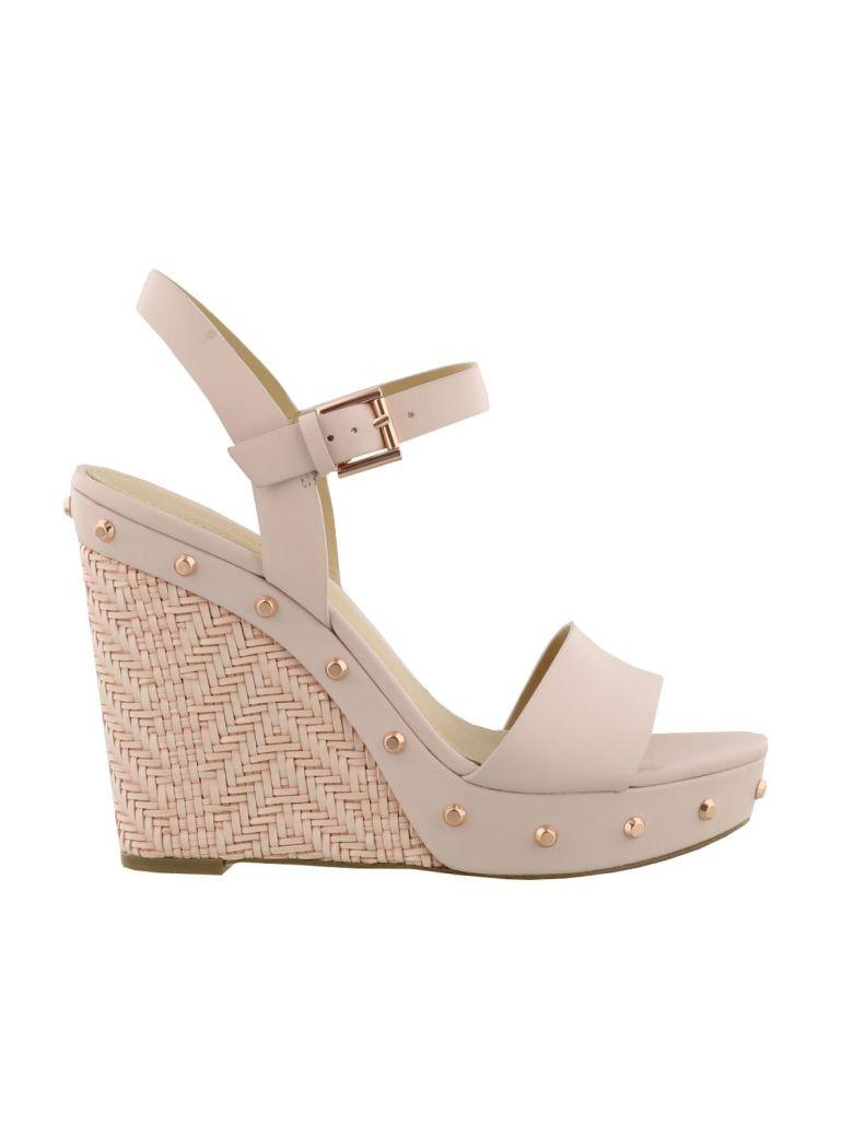 5da17bb6dc Michael Kors Ellen Wedge Sandals In Soft Pink   ModeSens