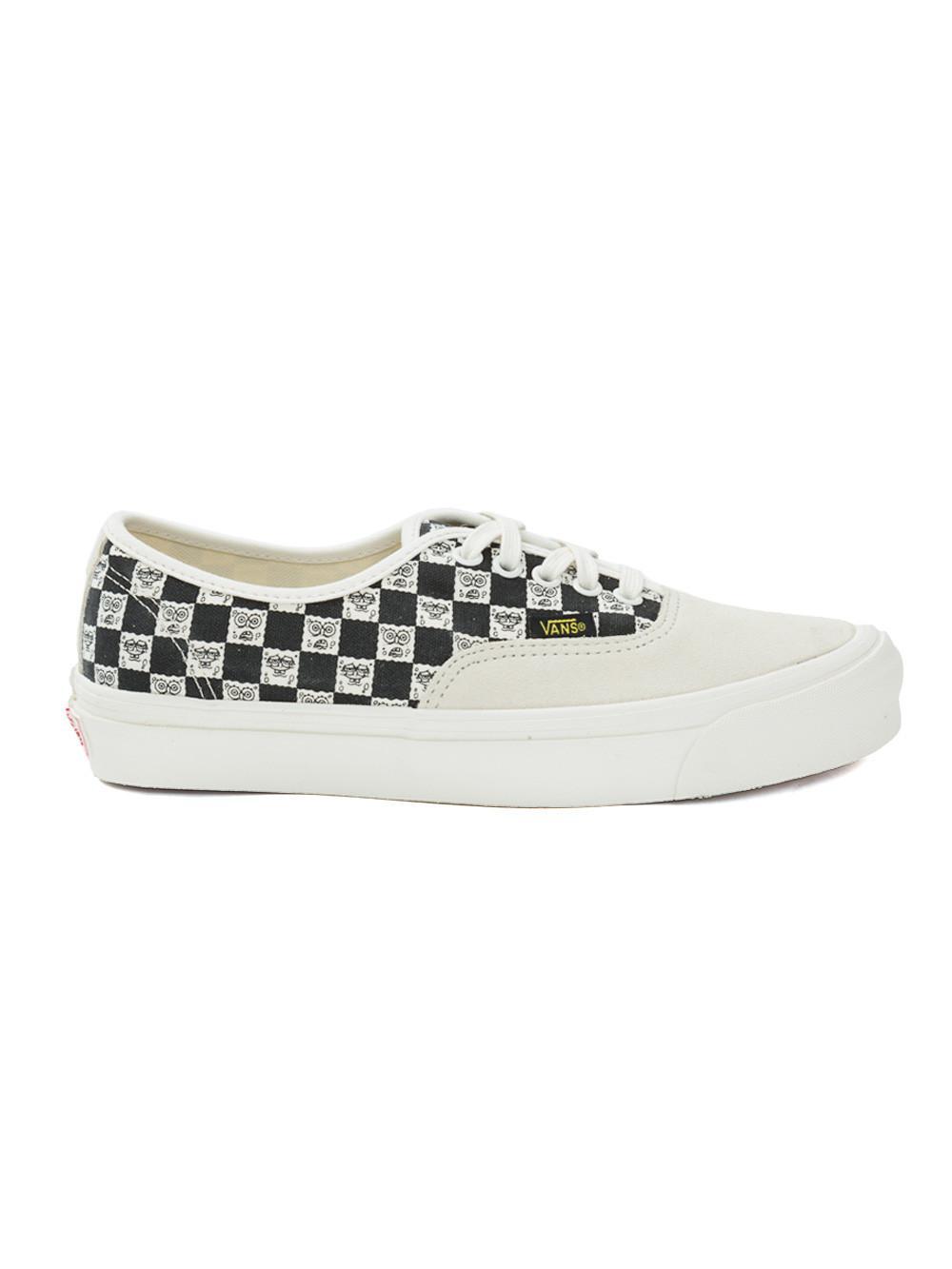 bf52fb6f7e Vans X Spongebob Ua Og Authentic Lx Checked Sneakers In Black