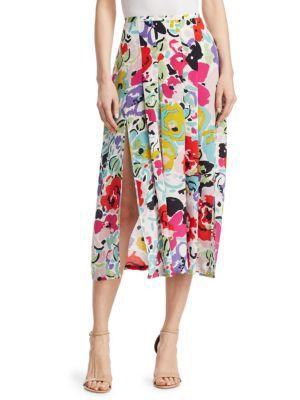 83c996f45d93 Rixo London Georgia Printed Silk Midi Skirt In Multi | ModeSens