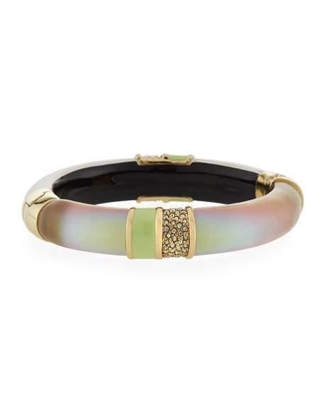 Alexis Bittar Crystal Encrusted Segmented Bracelet In Gray