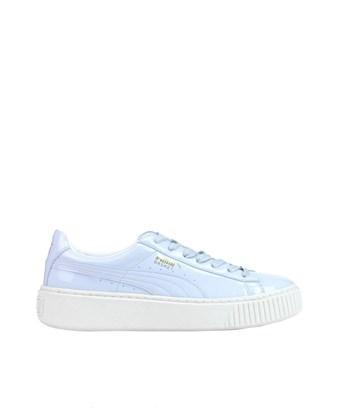 save off de4df 1a10b Puma Women's Light Blue Patent Leather Sneakers