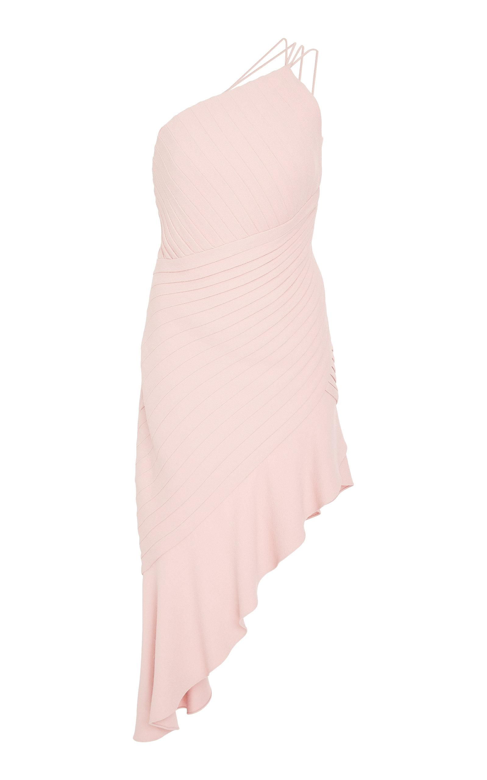 d2947b4f821c3 Brandon Maxwell Fan Pleat Cocktail Dress In Pink