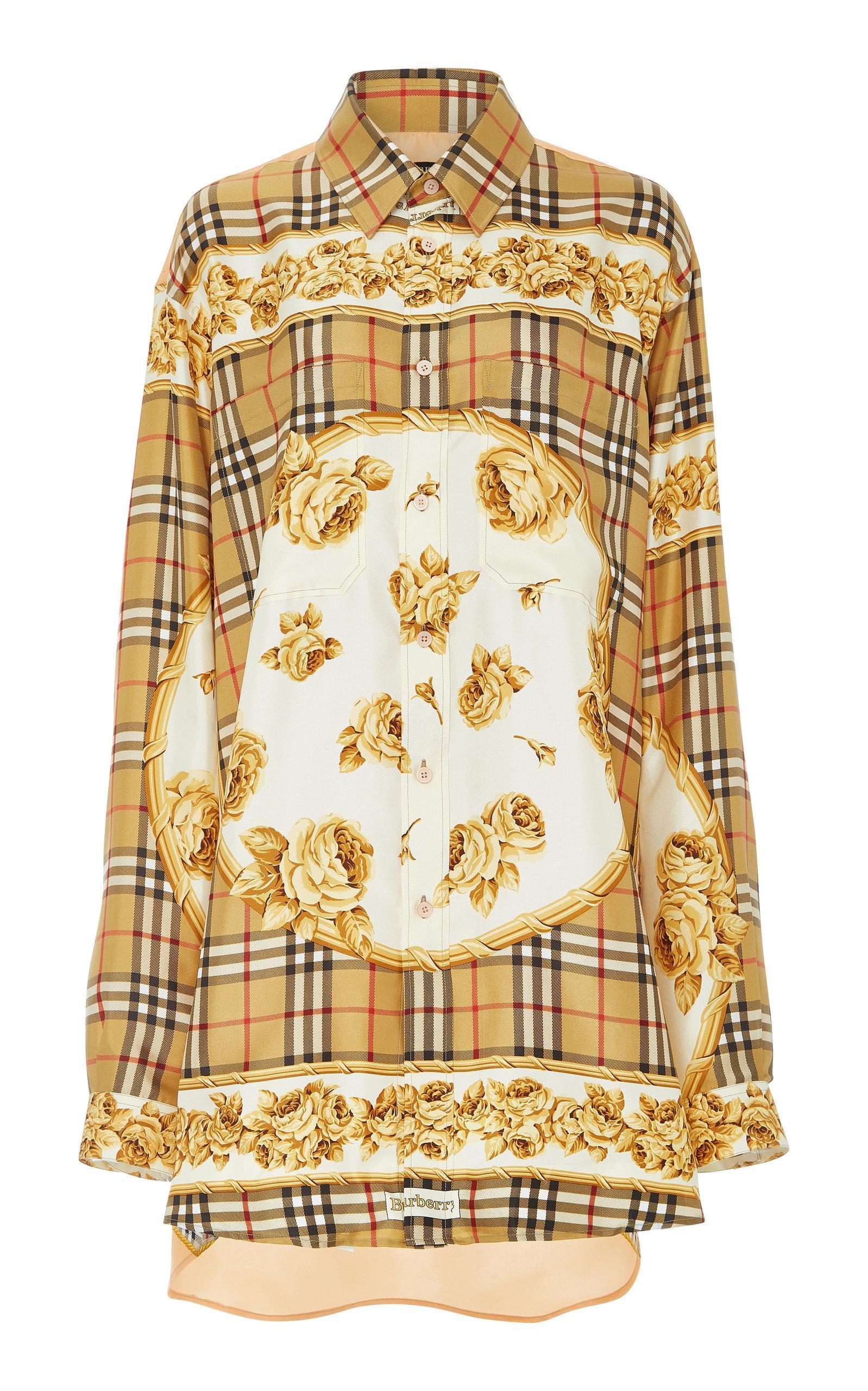 bfb479bb2add Burberry Archive Scarf Print Silk Shirt