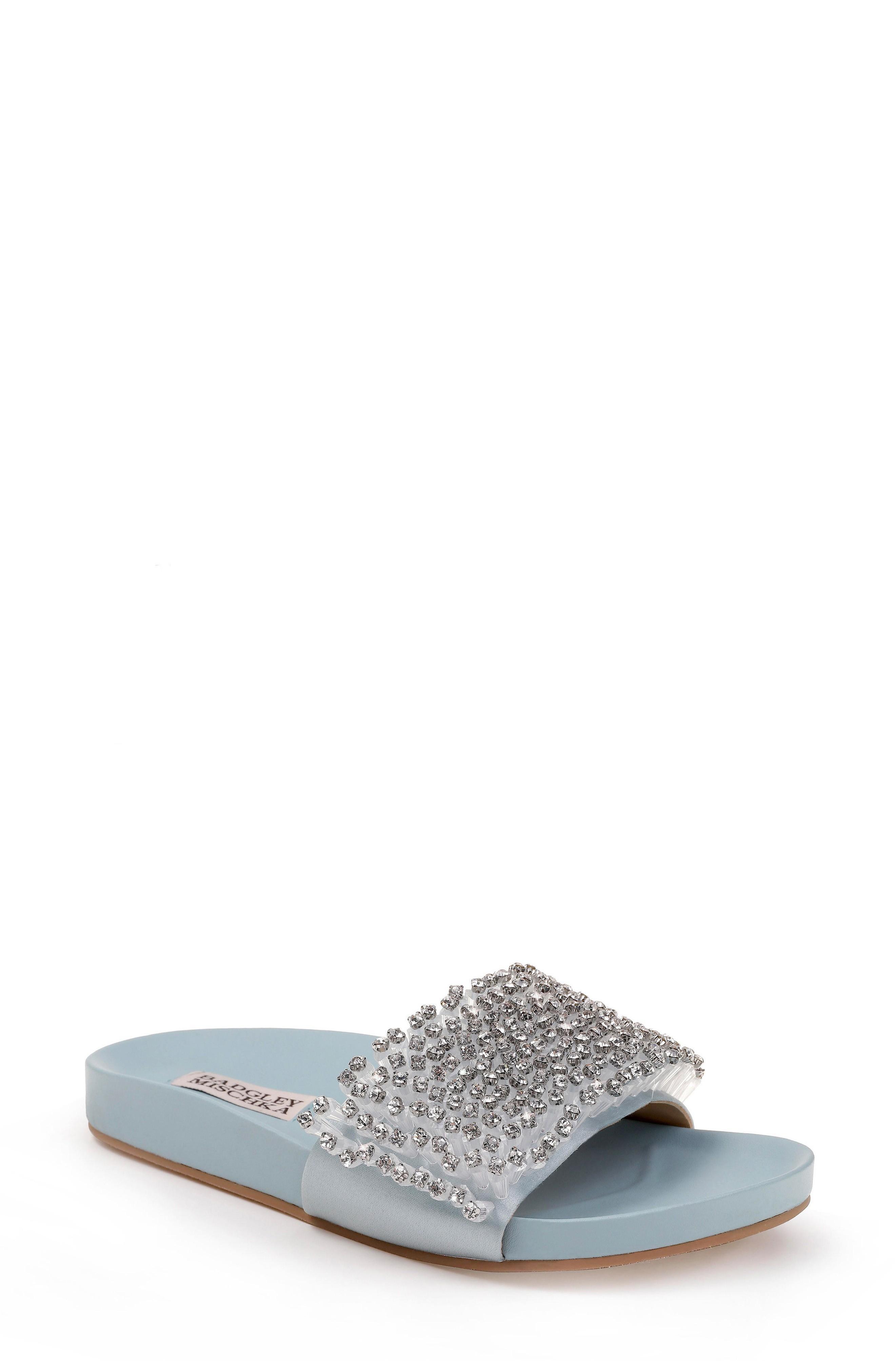 5df193594 A sporty slide sandal gets a glamorous update with sparkling 3D crystals.  Style Name  Badgley Mischka Horton Crystal Embellished Sandal (Women).