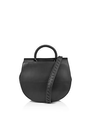 Kooba Nevis Leather Crossbody In Black/Gunmetal