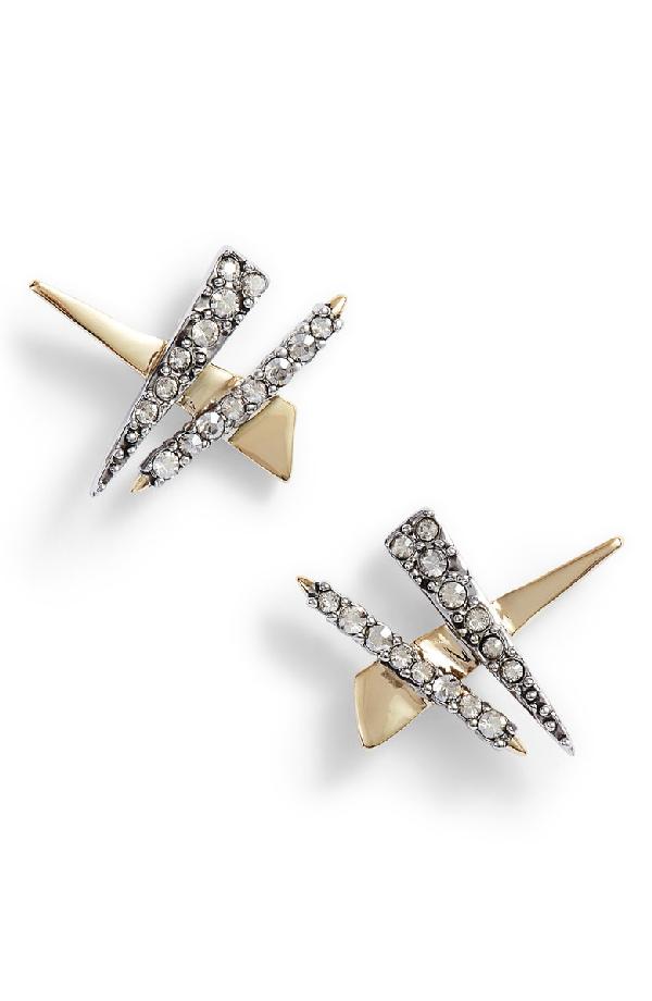 43ebc90b8 Alexis Bittar Crystal Embellished Stud Earrings In Gold | ModeSens