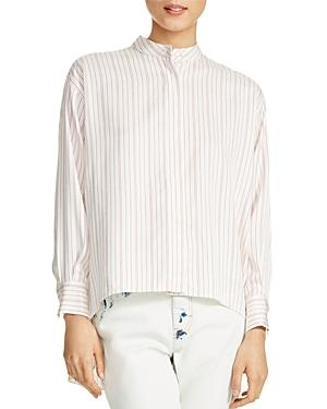 Maje Coquelico Striped Shirt