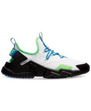 bb9bc434b28ee Nike Men s Air Huarache Run Drift Casual Sneakers From Finish Line In White  Black-