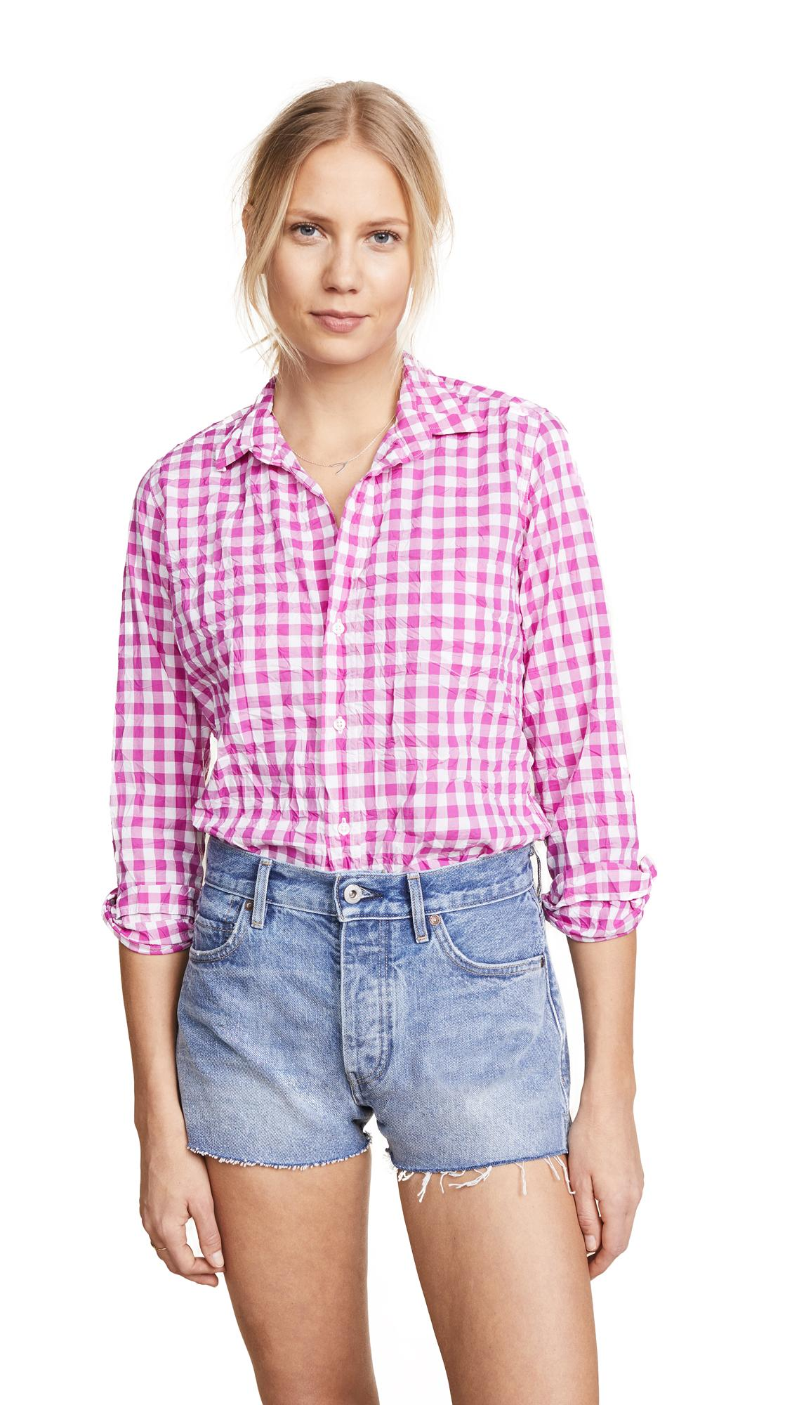 15aae6985f525f Frank & Eileen Barry Gingham Button-Down Shirt In Large Hot Pink Check