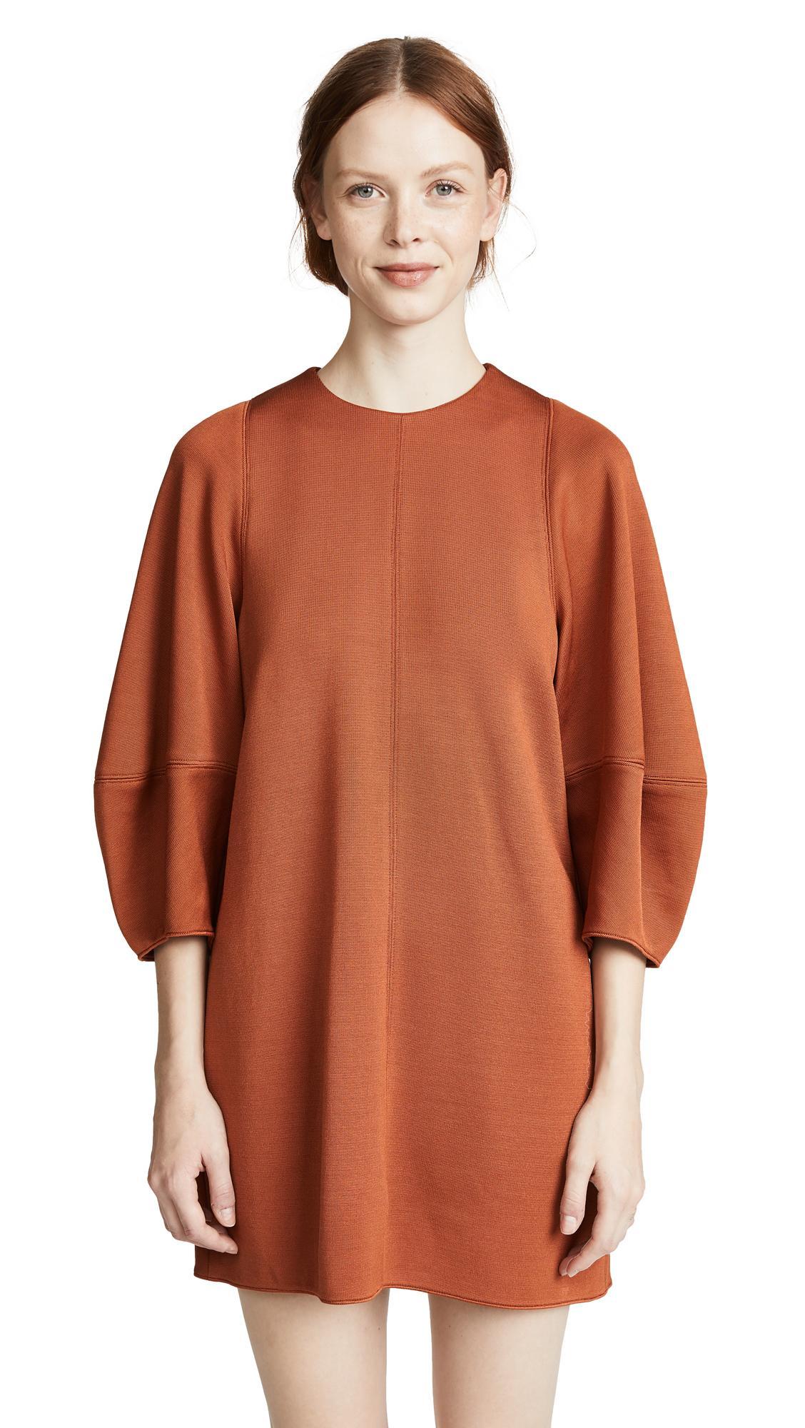 45b2d7665327 Tibi Crepe Mini Dress In Rust | ModeSens