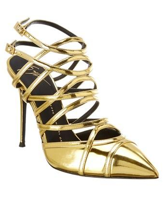 Giuseppe Zanotti Metallic Leather Cage Pump