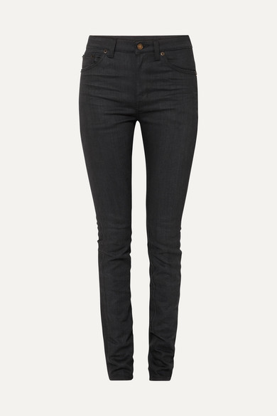 Saint Laurent High-rise Skinny Jeans In Black