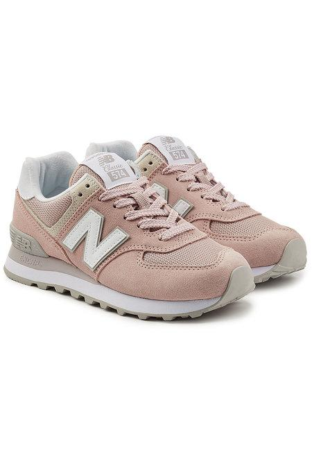 New Balance Wl520B Sneakers With Suede And Mesh In Pink