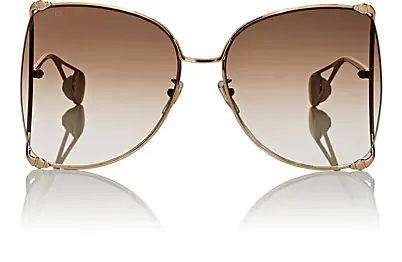 cd420705b0 Gucci 63Mm Gradient Oversize Butterfly Sunglasses - Gold  Gradient Brown
