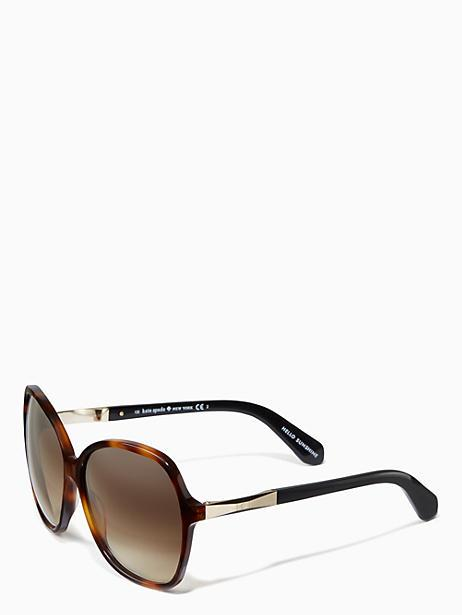 2eaf53bb5c311 Kate Spade Jolyn Sunglasses In Dark Havana Gold
