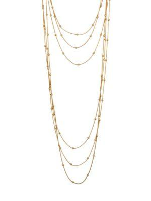 Jules Smith Aida Layered Necklace In Yellow Gold