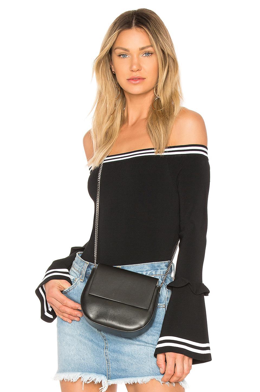 ffaca49a4b6 Kendall + Kylie Off-The-Shoulder Long-Sleeve Ruffle Bodysuit In Black
