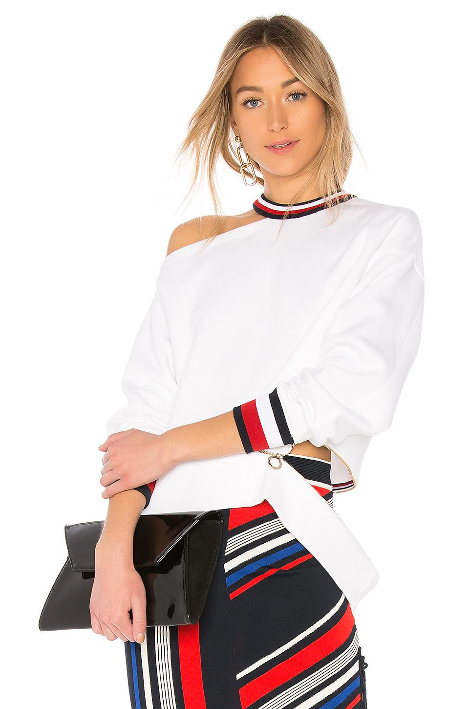 e6505970baf Tommy Hilfiger Tommy X Gigi Gigi Hadid Open Shoulder Ls Sweater In White