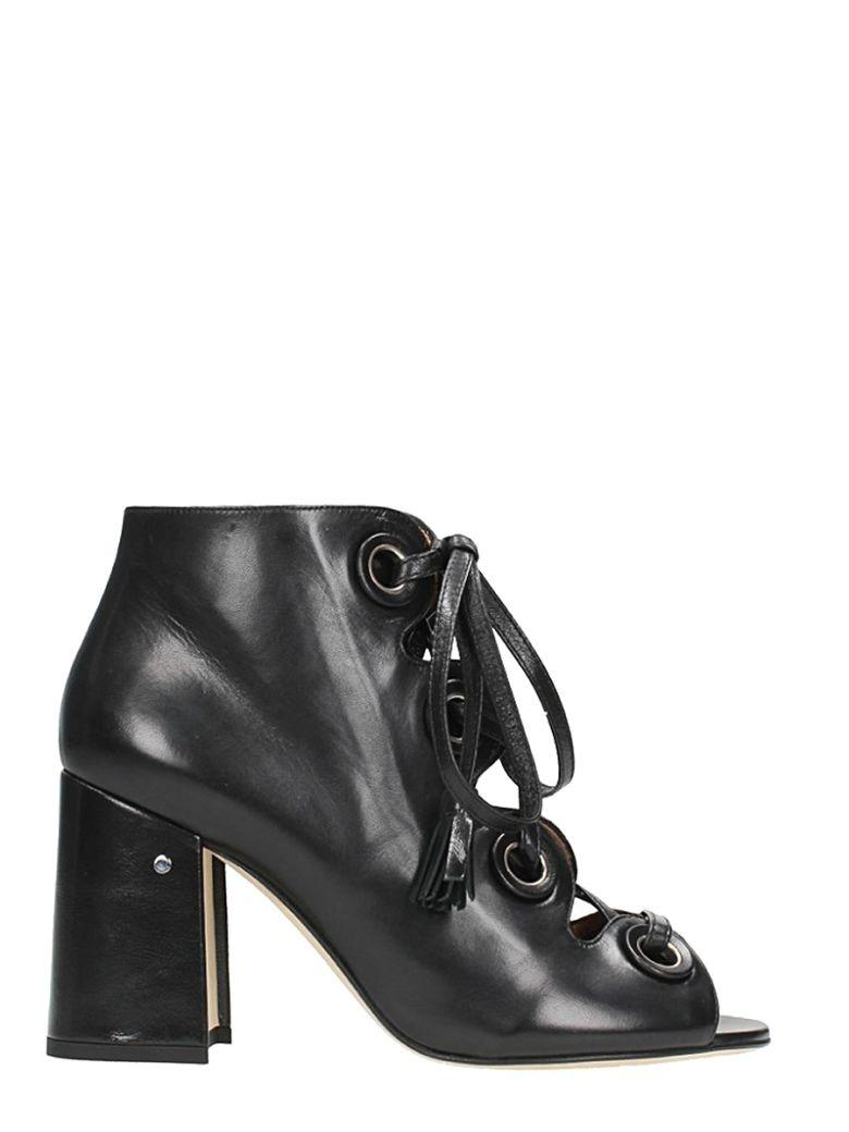 Laurence Dacade Patsy Black Leather Sandals