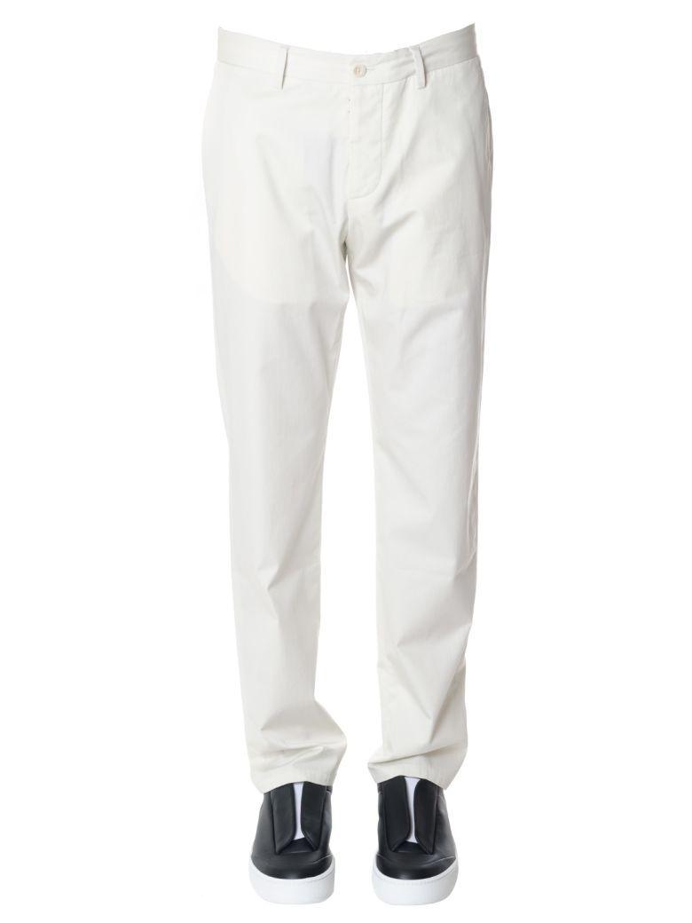 Maison Margiela White Cotton Straight Cut Pants