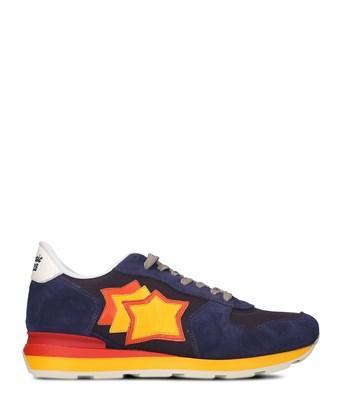 Atlantic Stars Men's  Blue Leather Sneakers