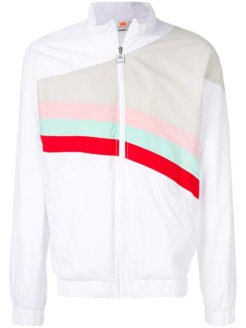 Diadora Sundek Rainbow Track Top In White