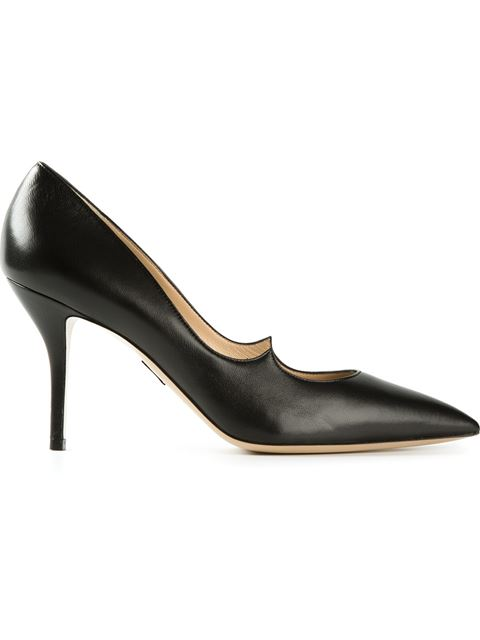 Paul Andrew 105Mm Zenadia Brushed Leather Pumps, Black