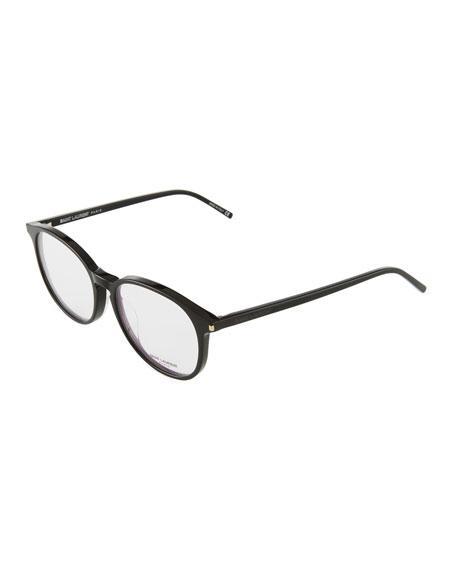 Saint Laurent Round Acetate Optical Glasses In Black