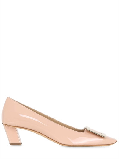 Roger Vivier 45Mm Belle Vivier Patent Leather Pumps, Nude