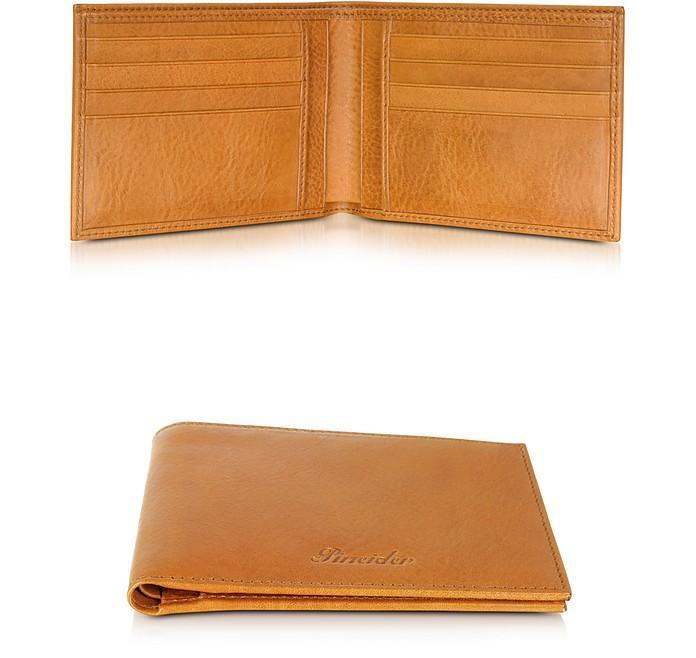 Pineider Country Cognac Leather Billfold Wallet