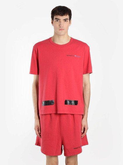 a5e78217 Off-White Off White C/O Virgil Abloh Men's Red Champion Tee | ModeSens