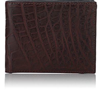Barneys New York Alligator Billfold - Dark Red