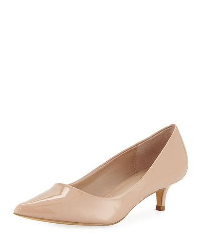 babbe8780b8 Charles By Charles David Dare Low-Heel Patent Leather Pump In Nude ...